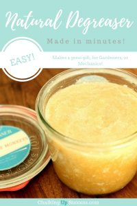 Natural homemade degreaser, made in minutes