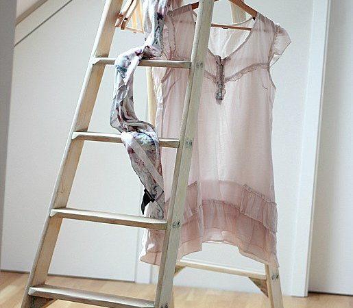 DIY ladder makeover – boutique style
