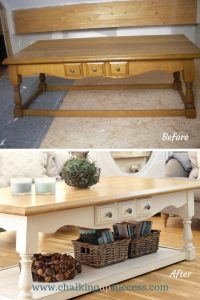 Just goes to show, you don't need to have stacks of cash to have a stylish home. This coffee table was found on eBay and cost €15. Some Annie Sloan chalk paint & elbow grease turned it into something really special. This post explains exactly how it was done and over on the blog, there's more inspiration for creating a stylish home on a tight budget. #homedecor #coffeetable #makeover #before&after #anniesloanchalkpaint