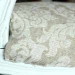 French-Style Chair Makeover Part Four - Applying the fabric, www.chalkingupsuccess.com