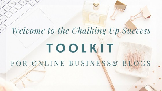 The chalking up success toolkit for online business & blogs www.chalkingupsuccess.com