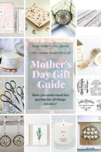 Inexpensive ideas for making Mother's Day special. Show your crafty Mama you understand her passion for all things creative with these beautifully crafted gifts from Etsy. #mothersday #motherdaygifts #giftsforcrafters #giftideasformothersday #uniquemothersdaygifts #giftsforher #inexpensivemothersdaygifts #cheapgiftsformothersday www.chalkingupsuccess.com