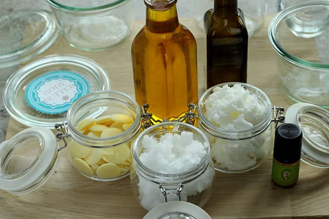 This homemade organic body butter feels gorgeous on my skin and is so simple to make. Melt, cool, whisk, done!
