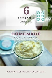 How to make a simple organic body butter with 5 ingredients www.chalkingupsuccess.com
