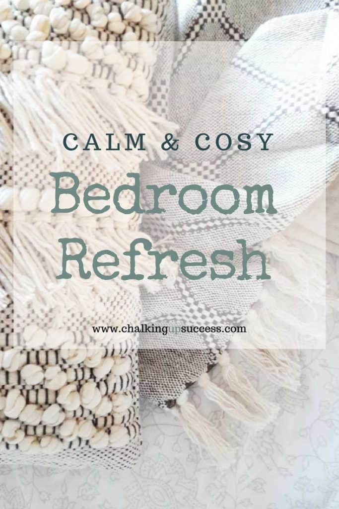 Who would have thought it could look so beautiful? This quick & easy bedroom makeover using second-hand furniture is definitely on the list of doable projects for this year. #bedroom #bedroommakeover #beautifulbedrooms #diy #anniesloan #chalkpaint #parisgrey #cusionsandthrows #designerinabinder #interiordesign #interiors