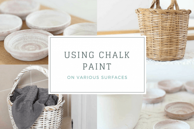 How to improve a basket with chalk paint