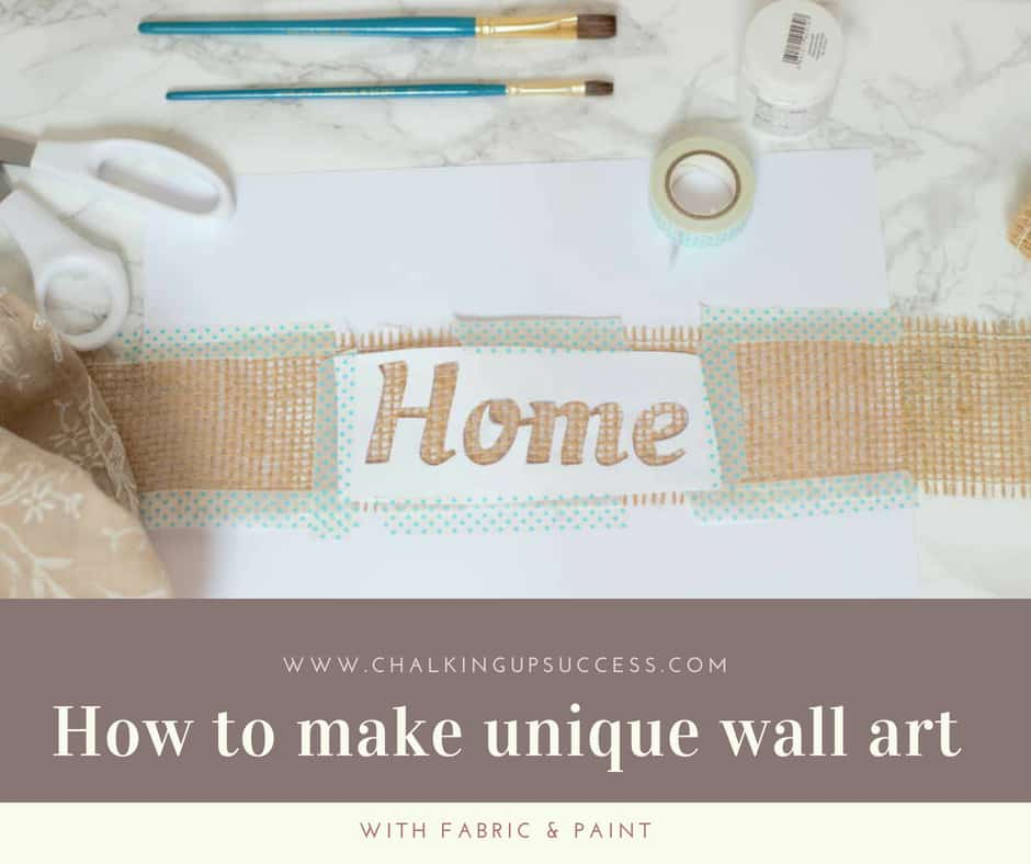 If you have an off-cut of fabric and a strip of jute, you can make this really simple but beautiful fabric paint print. It really is quick & easy, why not come on over to the blog and find out how to do it! #DIY #jute #wallart #budgethomedecor #homedecor #fabricpaint #neutraldecor