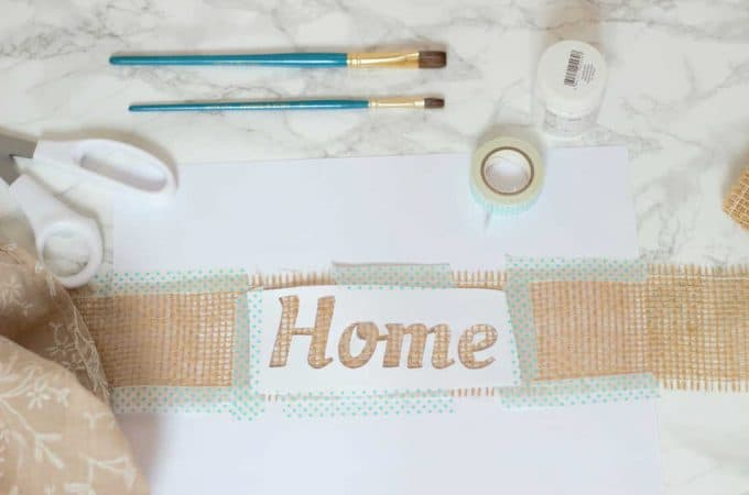 How to make a beautiful fabric paint print