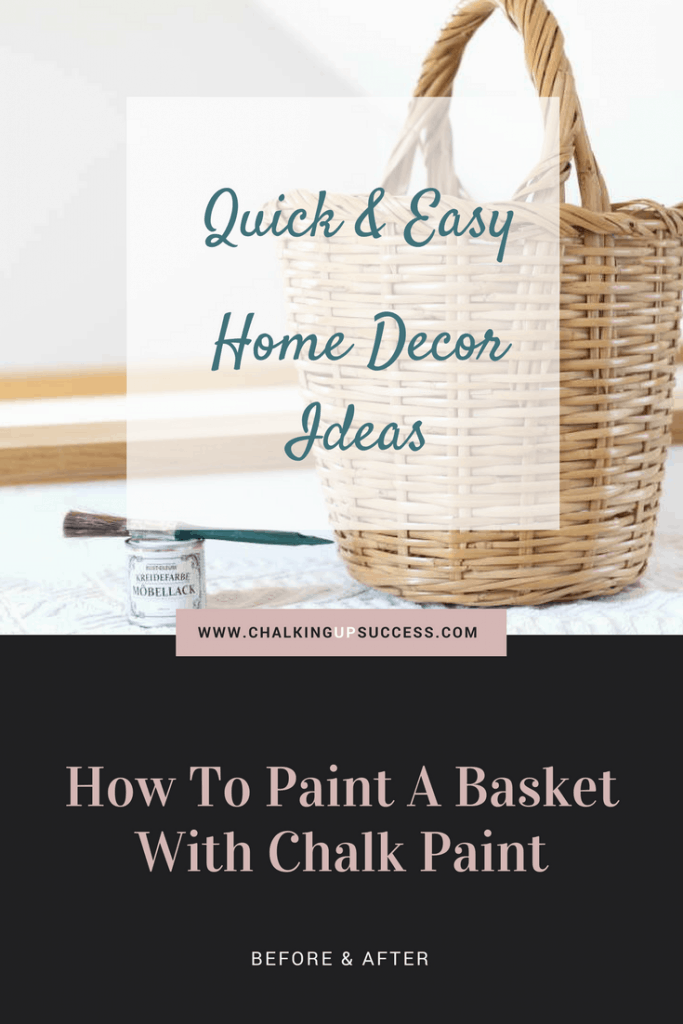 Love your wicker basket but not the colour? Is it too orange or too dark? I can show you how you can easily change it so that it fits in with your current decor.