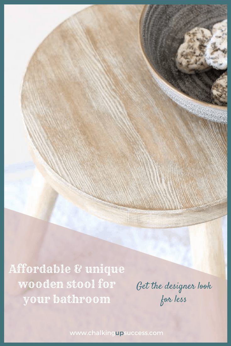Have you seen those lovely bathroom stools popping up all over Pinterest? Now you don't need to wait until you find one you like or can afford. Save money and create something unique that fits your style by transforming an untreated wooden stool with stain, paint & wax. Click for the tutorial or Pin for later – Here's to a beautiful home for us all! :) #stool #bathroom #bathroomstool #driftwoodfinish #distressedwooddiy