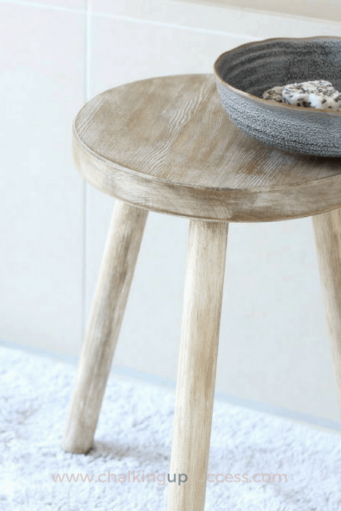 Wooden Stool For The Bathroom | Affordable & Unique - Chalking Up ...
