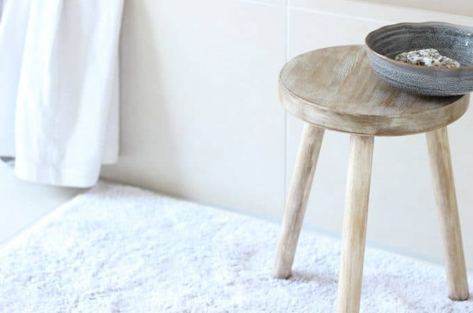 Wooden Stool For The Bathroom | Affordable & Unique