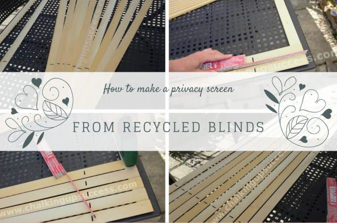 How to make a privacy screen from recycled blinds