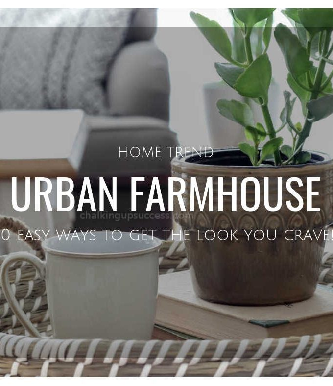 How to transition you décor to urban farmhouse style. It's a cosy, casual hybrid which blends traditional & contemporary style with a neutral colour pallet & a mix of metals and natural elements. #urbanfarmhousedecoratingideas #urbanfarmhouse #farmhousestyle #homedecorideas #interiors
