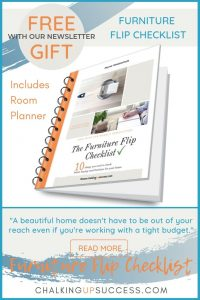A PDF e-Book 'the furniture flip checklist' free with our newsletter