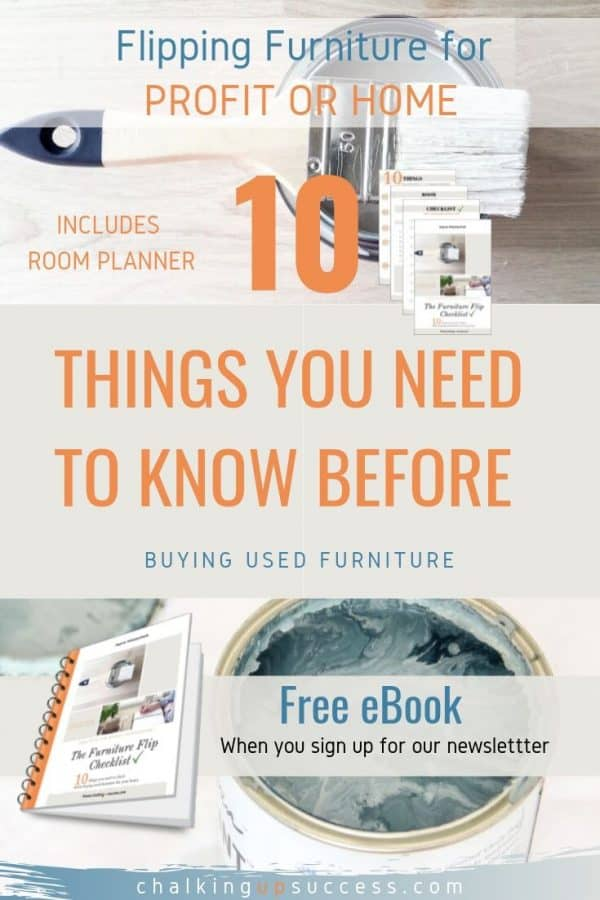 Free with our newsletter, a PDF e-Book 'The Furniture Flip Checklist'