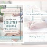 Declutter Success! A 5-Day email course, free when you subscribe to our Newslertter.Organize your home Lagom Style, declutter and make a relaxing haven and a calm and peaceful home environment for your family.