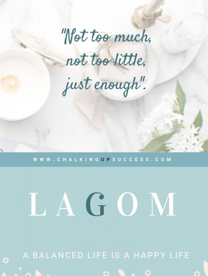 """Lagom, a balanced life is a happy life. How we can all bring more harmony and balance into our homes by following the Swedish concept of """"Not too much, not too little, just enough""""."""