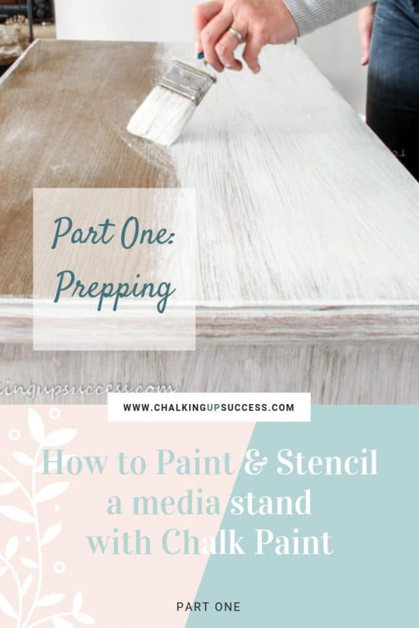 Chalk painted media stand before it was painted & stencilled with chalk paint. Part one is all about cleaning and prepping. Sounds boring but it's very important to the success of your paint job! Watch the video to pick up some great time saving tips.