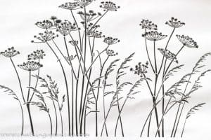 Showing a picture of how the stencil will look - it has gasses and seedheads swaying in the wind