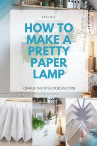 How to make a pretty paper lamp from chalking up success dot com