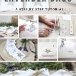 How to make lavender bags - a step by step tutorial by chalking up success dot com