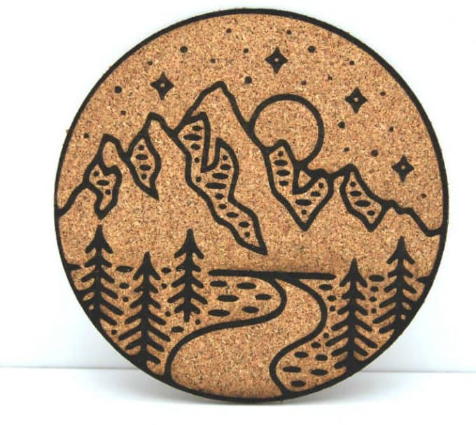 Stary mountain coaster - If you'd like to know how to make your office more sustainable here are some of the gorgeous accessories that you can buy for your desk and workplace today, to help you reduce plastic in your home and create an eco-friendly office space. #ecofriendlydecor #ecofriendlyproducts #ecofriendlygifts #ecofriendlyliving #ecofriendlyideas #ecofriendlytips #ecofriendly  #sustainability #sustainableliving #zerowaste #ecofriendly #office #officesetup  #ecofriendlyofficesupplies  #greenoffice #ecofriendlyhome #homeofficeideas #homeofficemakeover #sustainablelivingideas