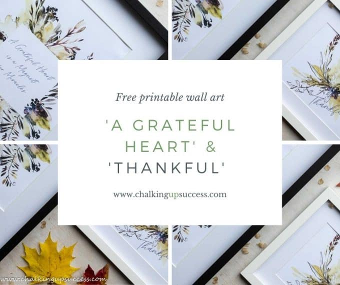 Printable wall art for Thanksgiving with text overlay