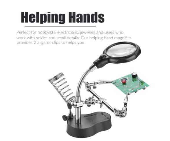 Magnifying glass for crafters and makers.