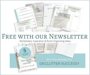 Declutter Success - Free five day email course from Chalking up success. Includes worksheets and room planners.
