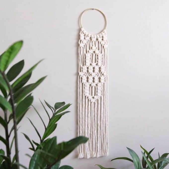Macrame kits make super beginner gifts for crafters.