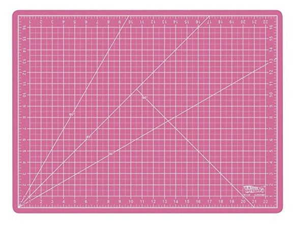 Self healing cutting mat in the colour pink.