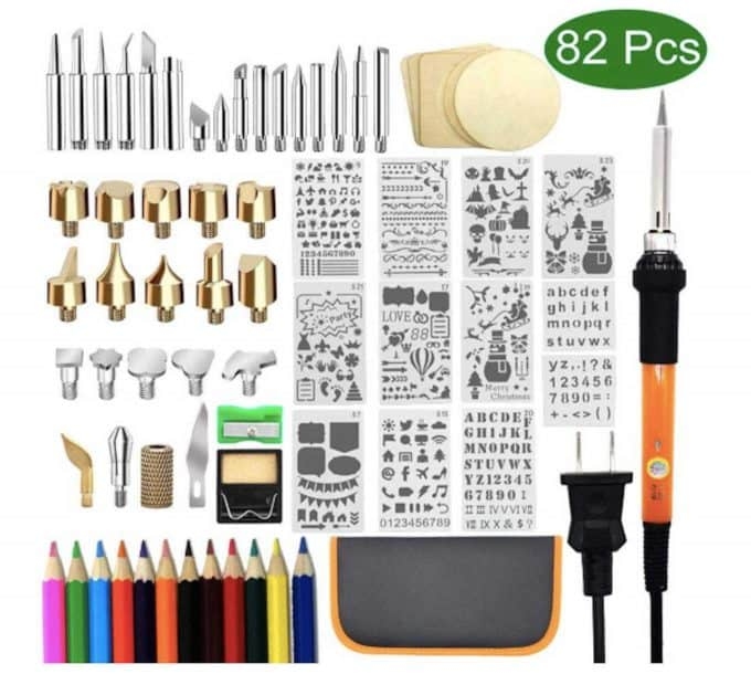 Woodburning kit, a perfect gift for crafters and makers.