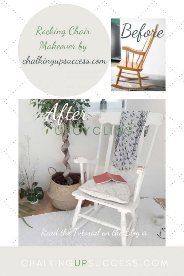 Upcycle a dark wood rocking chair with Annie Sloan Chalk Paint in 'Old White'