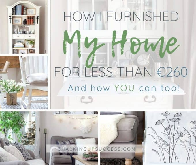 How I furnished my home for less than €260 and how you can too!