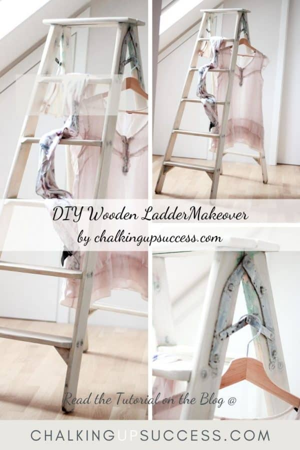 Upcycle an old wooden ladder with Annie Sloan Chalk Paint wash