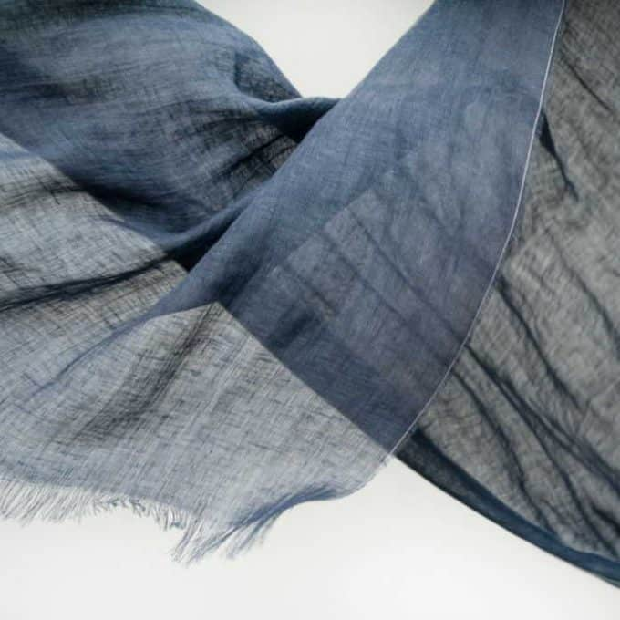 Lightweight Linen Scarf/Linen Shawl/Women Scarf/Linen Clothes/Sustainable Clothing 70gsm – Navy blue