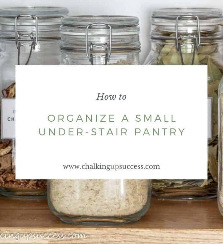 organize a small under-stair pantry with glass jars