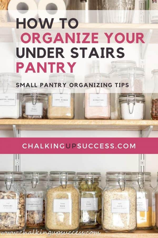How to organize a small under-stair pantry