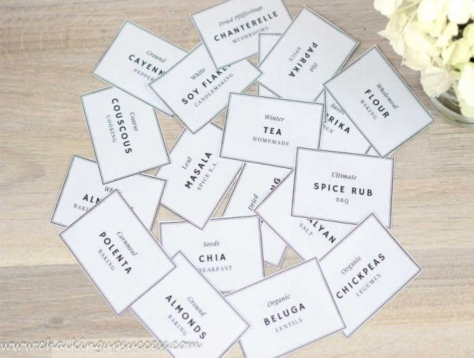 Homemade pantry jar labels - How to organize a small under-stair pantry
