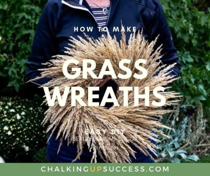 Facebook Graphic - How to make Grass Wreaths - chalkingupsuccess.com