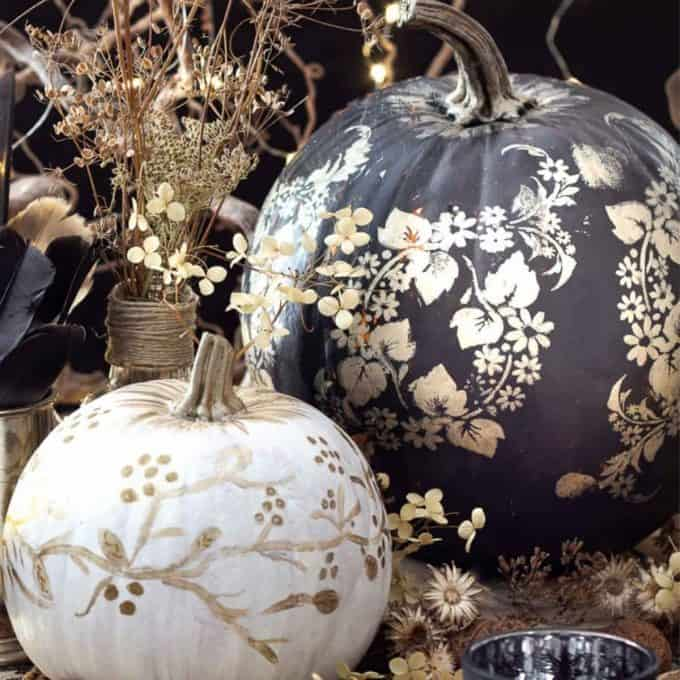 cute painted pumpkins, ideas for your fall table