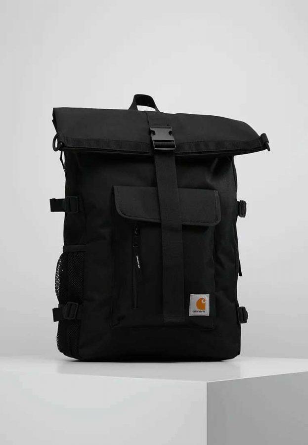 Black waterproof rucksack
