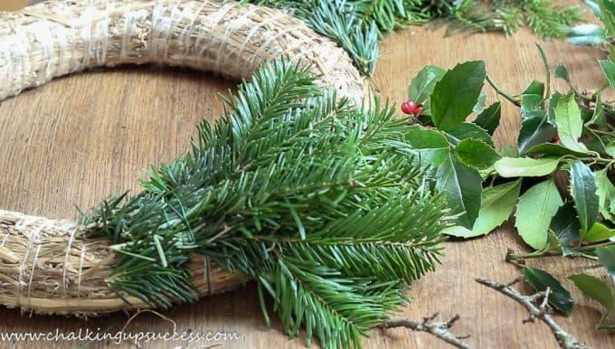 Starting to make evergreen wreaths