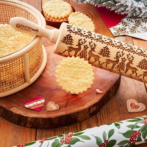 CHRISTMAS rolling pin embossing rolling pin engraved | Etsy