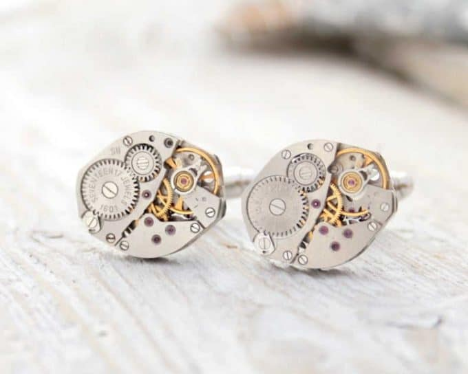 Steampunk cuflinks are one of the the best gifts for men in their 20s