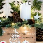 Pin this to Pinterest - Christmas crate decorating ideas