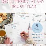 stress-free decluttering Pinterest Image