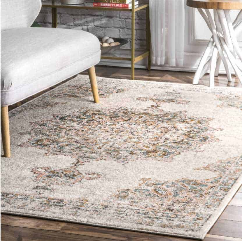 This beige vintage rug is one of the most loved items our readers bought in 2020