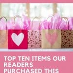 Pretty paper shopping bags decorated with heart shapes